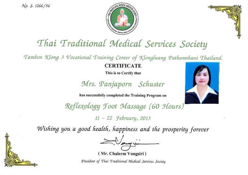 Thai Massage Zertifikat 1