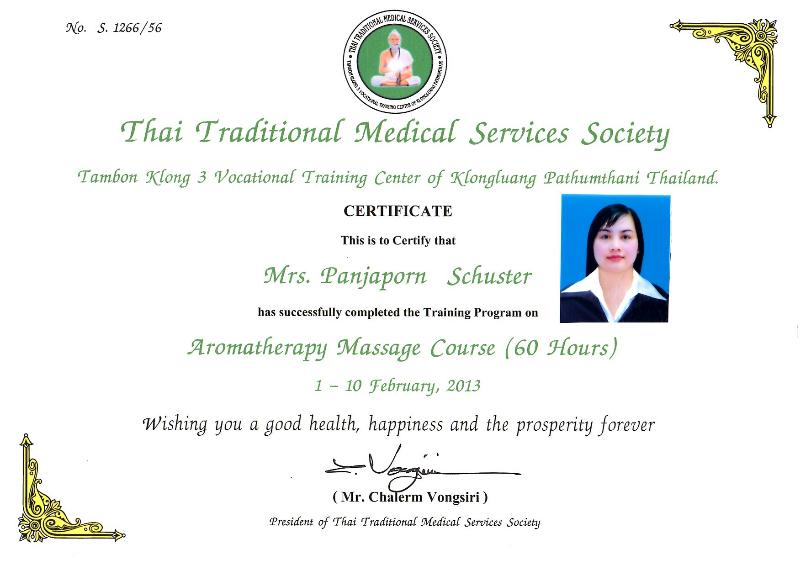 Thai Massage Zertifikat 2